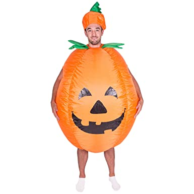 bodysocks adult inflatable pumpkin halloween fancy dress costume