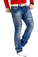 RedBridge Herren Jeans Freizeitjeans Freizeithose Denim Hose Slim Fit Clubwear Streetwear Biker by Cipo Baxx