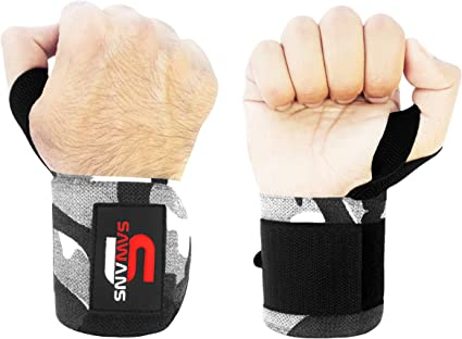 Power bar Wrist Straps Closure hand Wrap Fitness Weightlifting Bodybuilding Gym