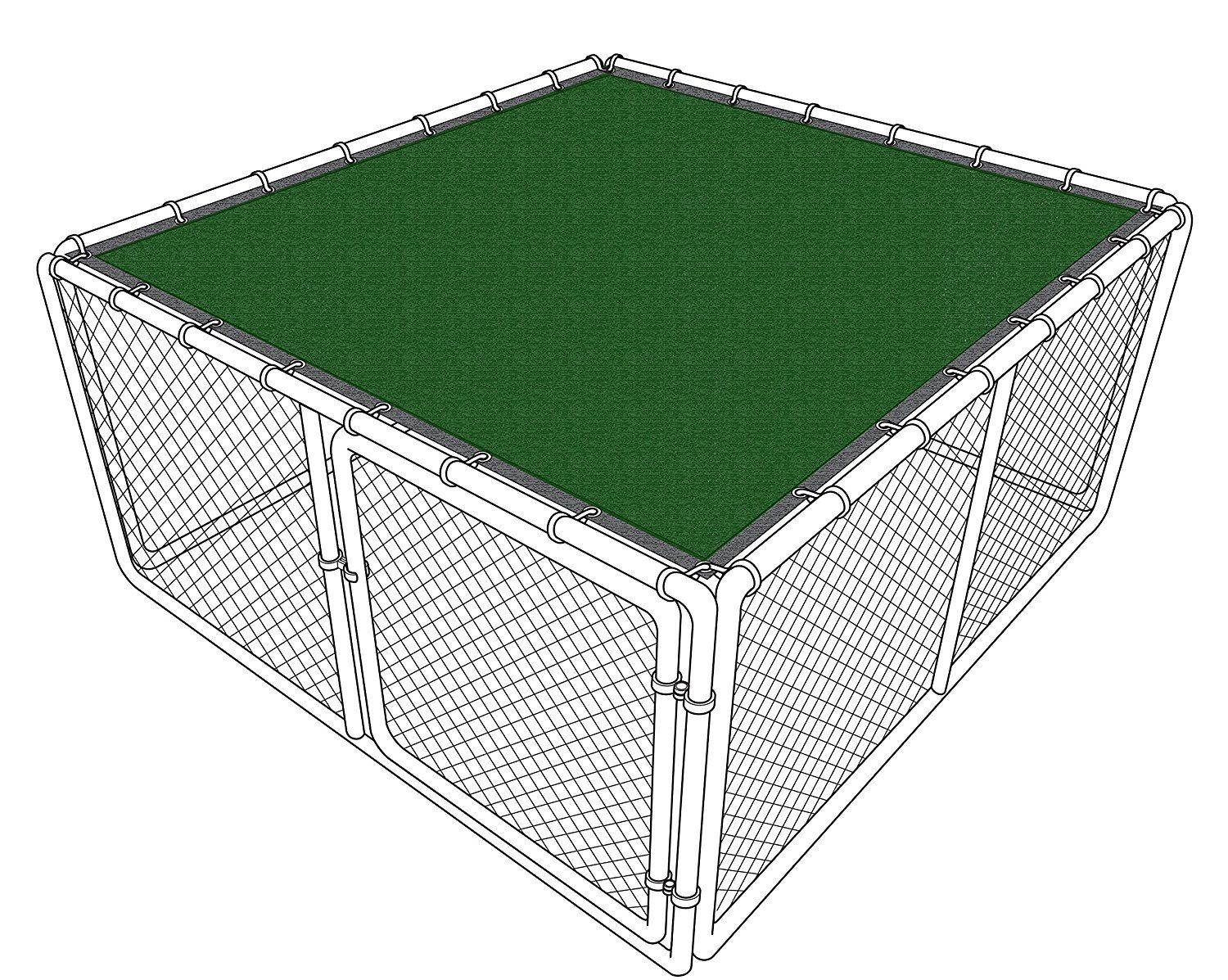 iDeal Fabrics Dog Kennel Cover (6x10)