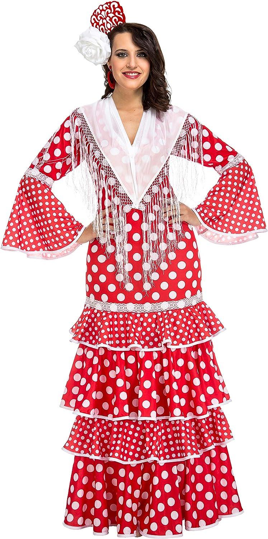 My Other Me Me-203849 Disfraz de flamenca Sevilla para mujer, color rojo, XL (Viving Costumes 203849)