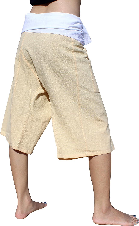 RaanPahMuang Brand Muang Cotton Two Tone Thai Fisherman Capri Wraps