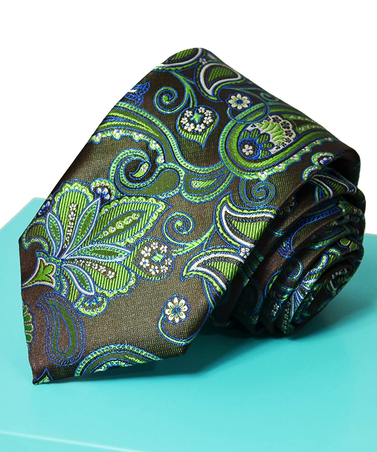 Extra Long to Super Long 70in Paisley Ties and Pocket Square