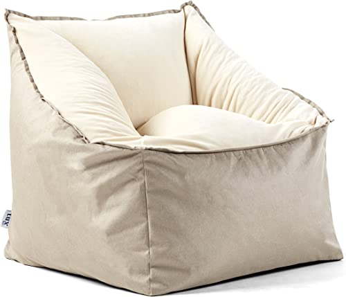 Big Joe Slalom Beanbag Chair, Oat Ivory