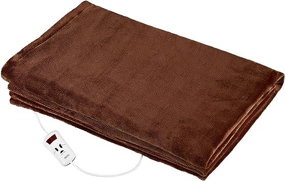 AEG WZD 5648 - Manta eléctrica, 130 x 180 cm, apagado automático, 10 niveles, 180 W, color marrón: Amazon.es: Salud y cuidado personal