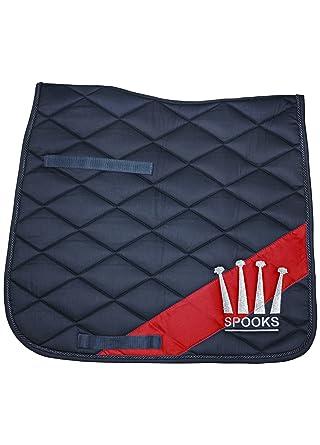 Spooks Tapis De Selle Dressage Pad Diagonal Bleu Marine Rouge Taille