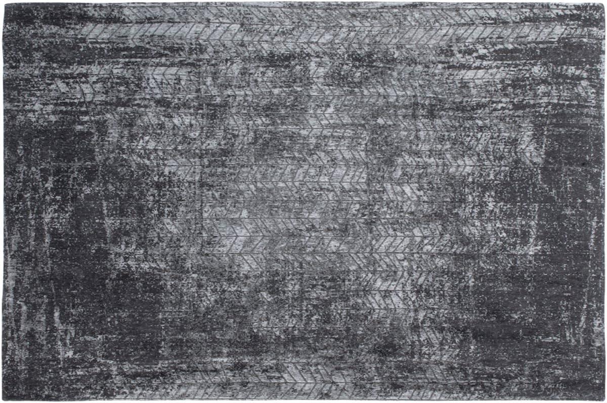Louis de Poortere Alfombra de diseño para hombre, escalera de Jacob, 8425 HARLEM CONTRAST, color blanco y negro, moderna, contemporánea, estilo envejecido, alfombra de área, negro, 140x200cm - (47x67): Amazon.es: Hogar
