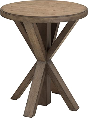 Pulaski Lt Oak Plank Top End Table Accent