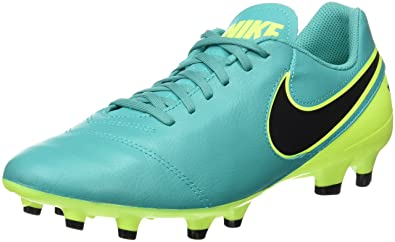 a64656cf073 NIKE New Men s Tiempo Genio II Leather FG Soccer Cleat Clear Jade Volt 7