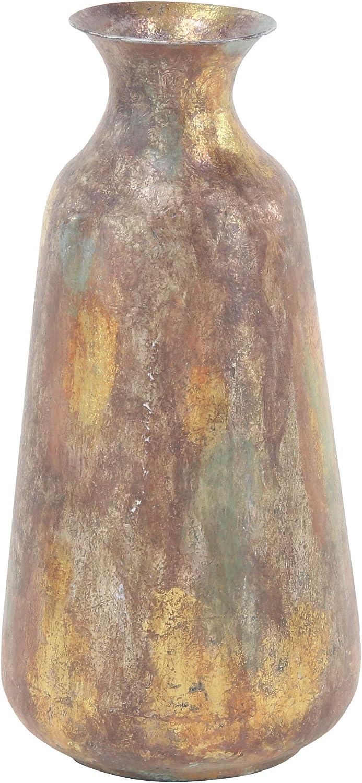 Deco 79 Rustic Metal Decorative Vase, 9