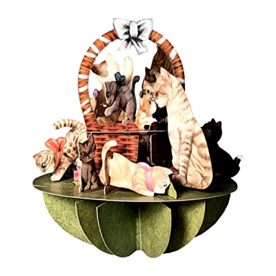 Santoro Pirouettes Kittens in a Basket 3D Pop Up Card: Arts, Crafts & Sewing