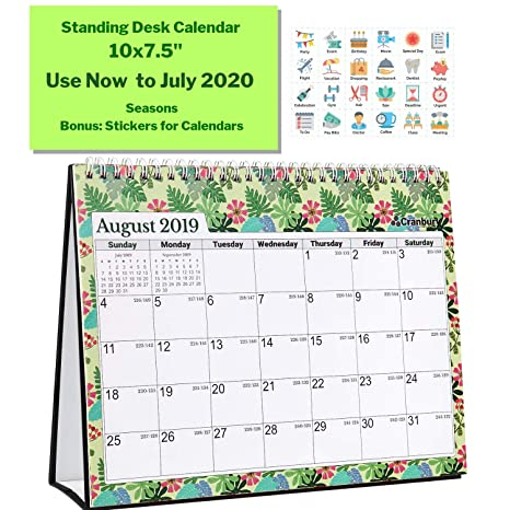 Rubys Pantry Food List 2020.Larger School Year Desk Calendar 2019 2020 Seasons 10x7 5 Use Now To July 2020 Unique Monthly Designs Double Sided Desktop Academic Year