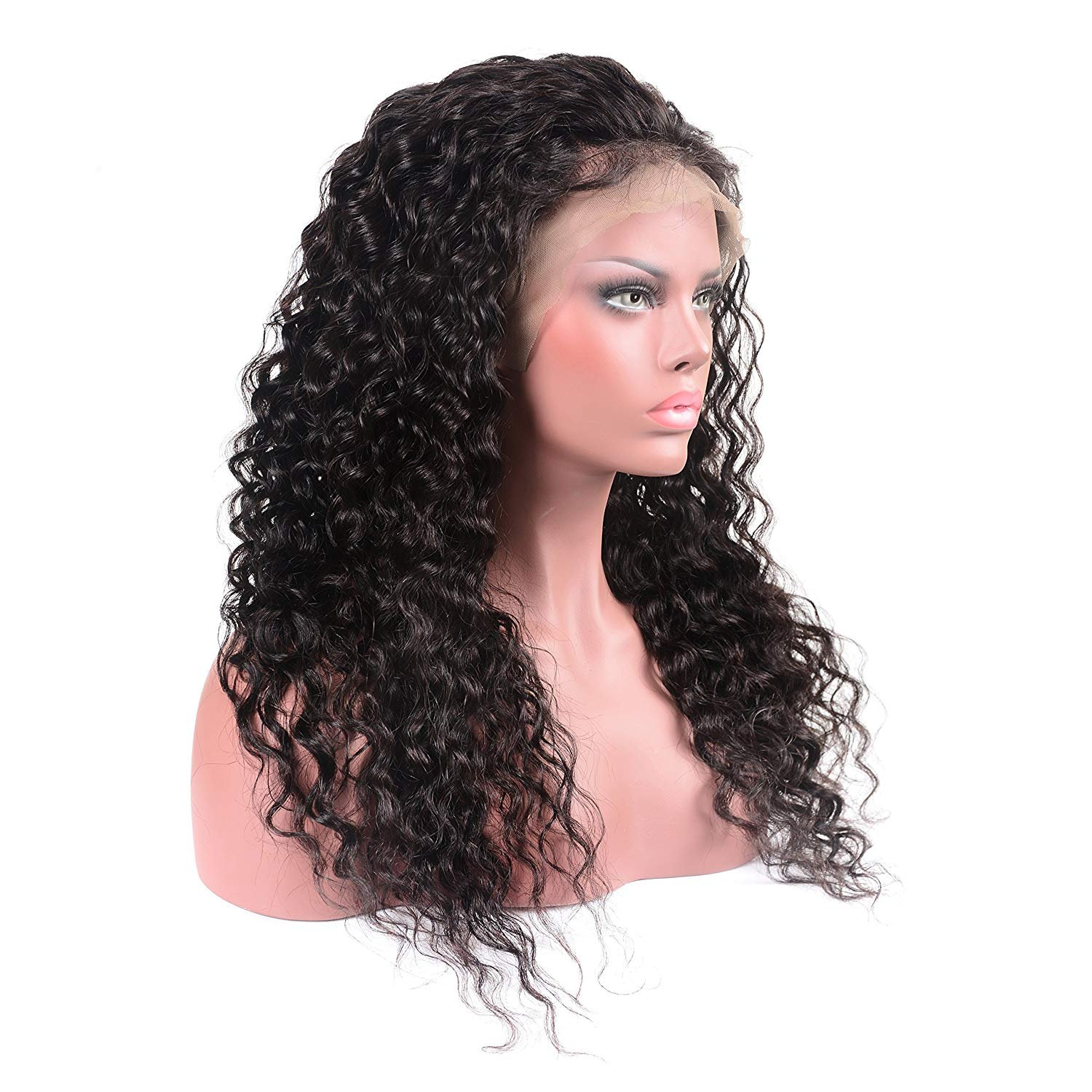 Younsolo Brazilian Water Wave Lace Front Wigs with Baby Hair for Black Women 130% Density Virgin Remy Human Hair Lace Front Wigs 26 inch by Younsolo (Image #2)