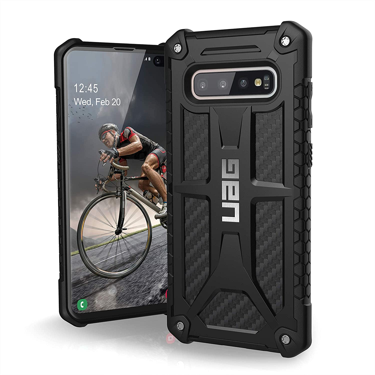URBAN ARMOR GEAR UAG Designed for Samsung Galaxy S10 Plus [6.4-inch Screen] Monarch [Carbon Fiber] Military Drop Tested Phone Case