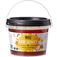 THE WHOLE FOODIES Raw Honey Wild Crafted, 1 Kilogram