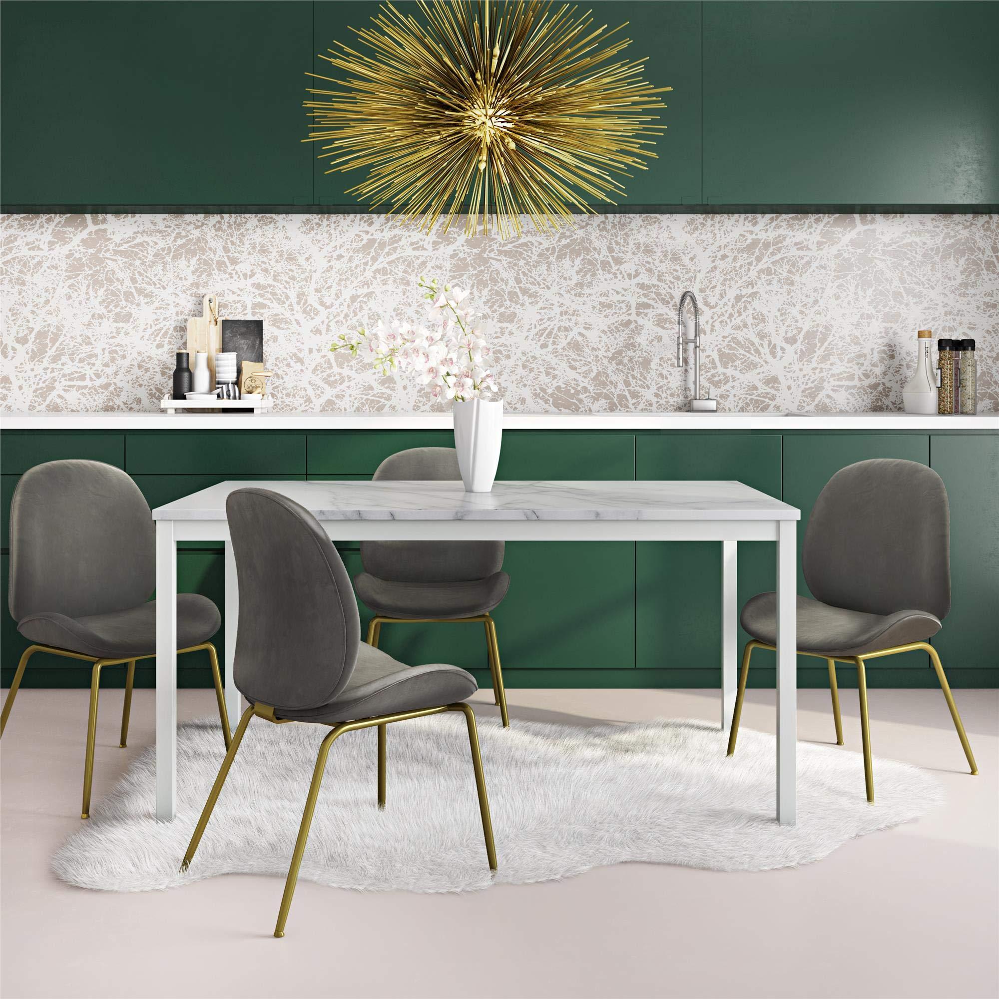 CosmoLiving by Cosmopolitan DA8350 Greta Dining Table Faux Marble