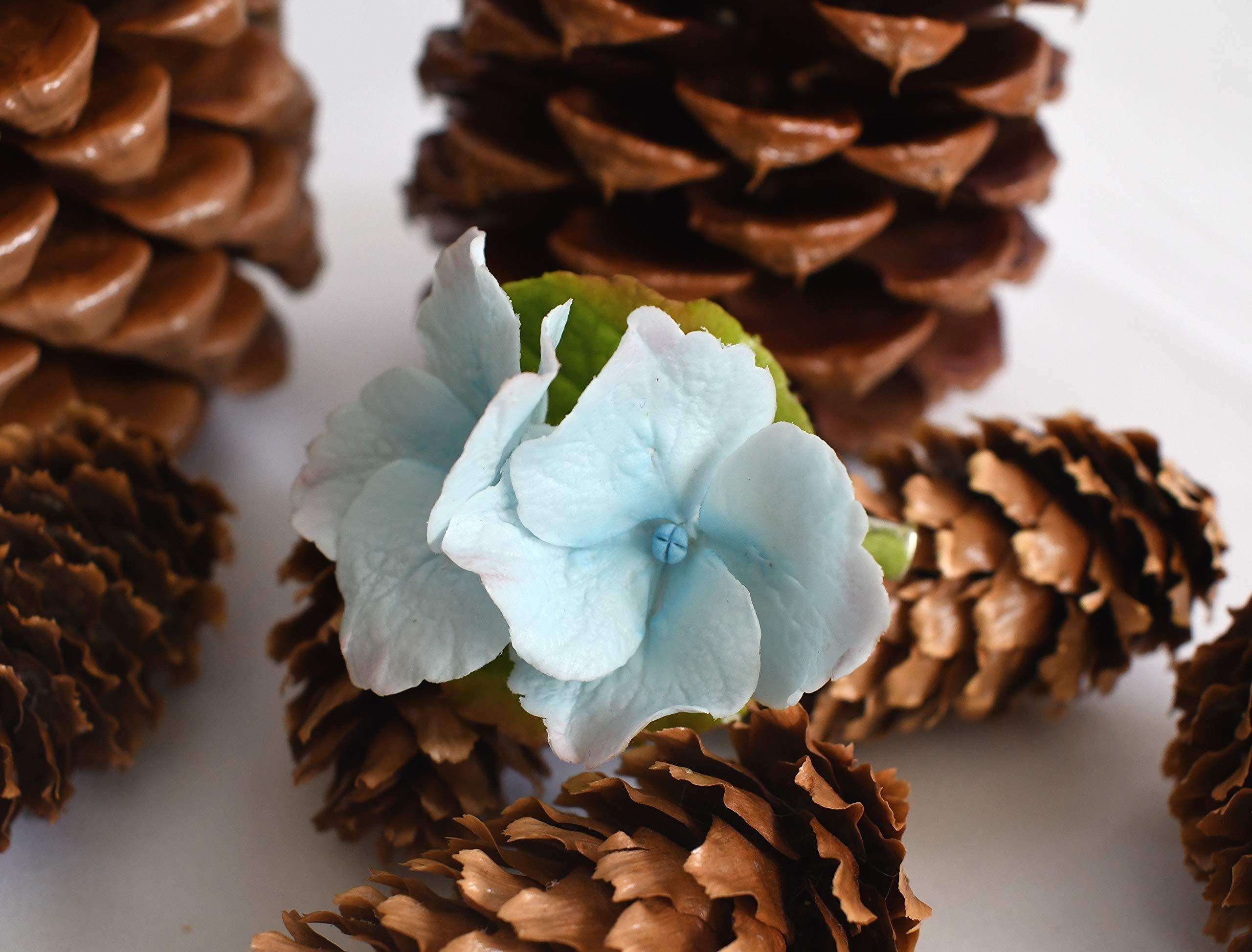Handmade Hydrangea Hair Pin | Air Dry Clay |Size 5 cm X 6 cm | 0.2 oz by 4T_ClayFlowers