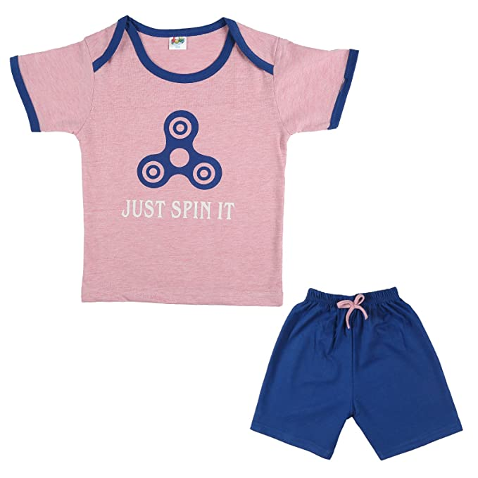 aa2f9ff06124 LK Vyapaar Pvt Ltd 6-12 Months Kidswear T-Shirt and Pant 2 Piece Set for boy  or Girl 100% Cotton -Pink Size-M  Amazon.in  Clothing   Accessories