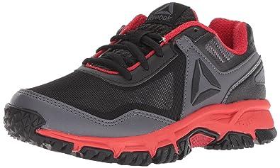 64b05641b84 Reebok Unisex Ridgerider Trail 3.0 Sneaker Black ash Grey Primal red 1 M US