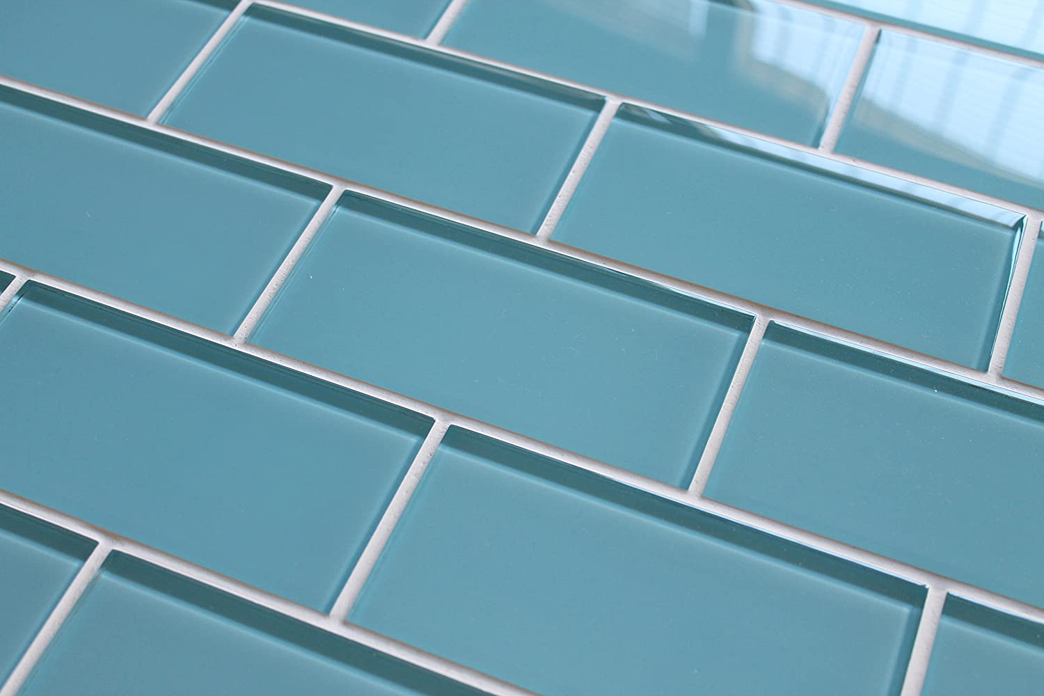 "hot sale 2017 3"" x 6"" SAMPLE - Infinity Blue 3x6 Glass Subway Tiles"