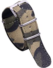 22mm Camouflage Military Breathable Men's One-piece NATO style Nylon Watch Bands Straps