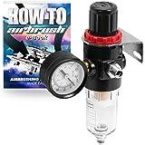 PointZero Airbrush Air Compressor Regulator with Water-Trap Filter