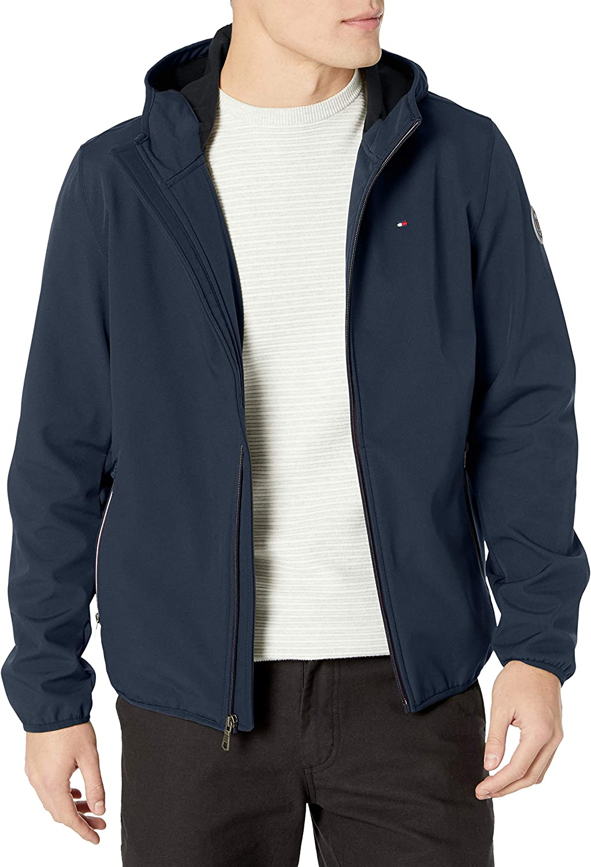 Tommy Hilfiger Mens Lightweight Varsity Rib Knit Bomber Jacket Shell Jacket