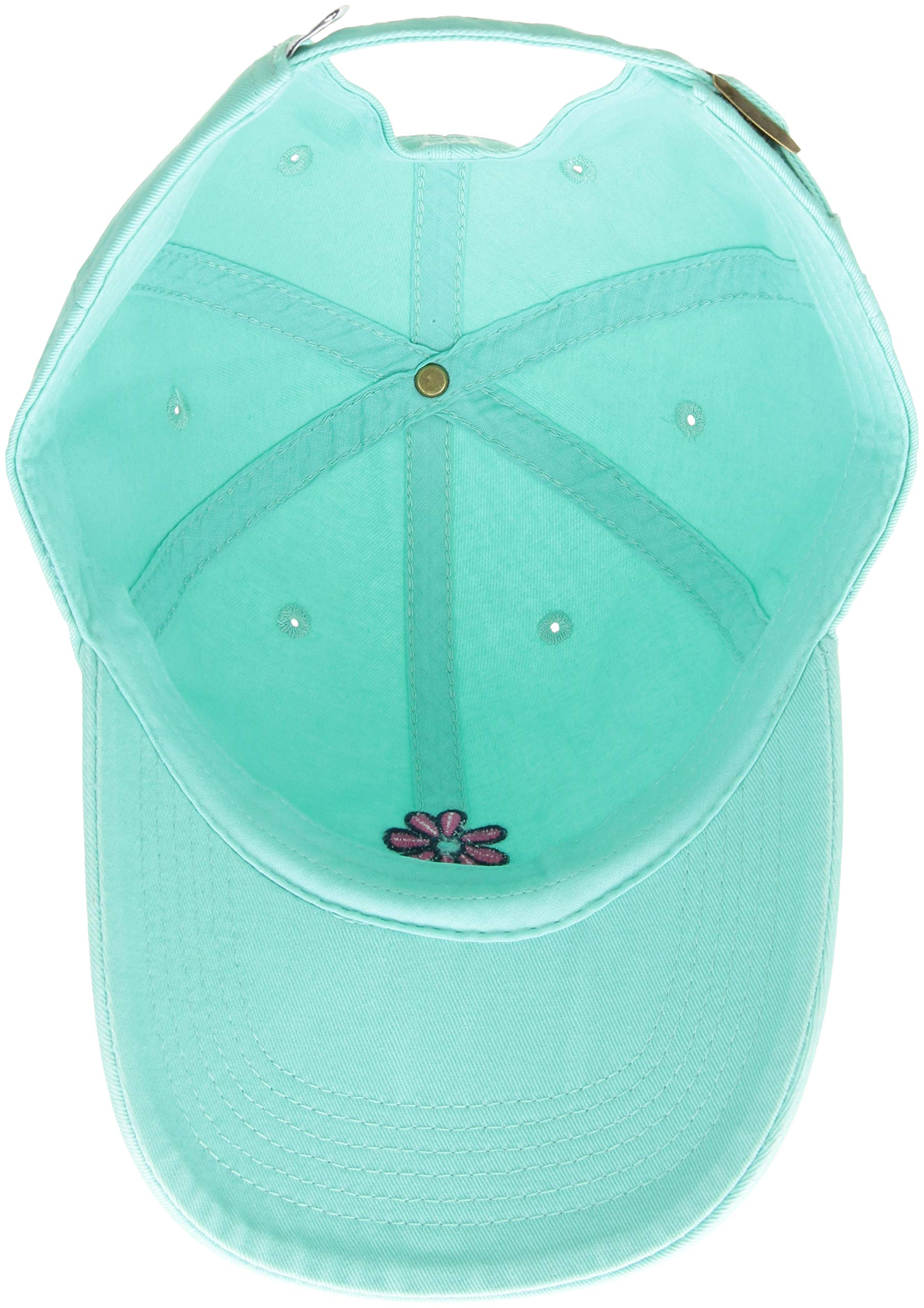 Life is Good Chill Cap Baseball Hat Collection,Daisy,Cool Aqua by Life is Good (Image #3)