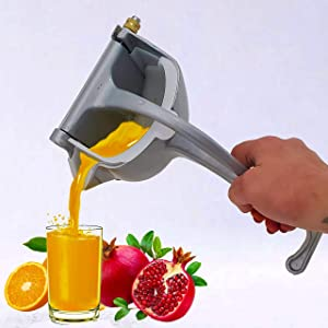 AltaSigna Hand Juicer, Aluminum Alloy Fruit Juice Squeezer, Portable Manual Juicer, High Quality Juicer Hand Press and Orange Lemon Citrus Juice Squeezer, Durable and Sturdy