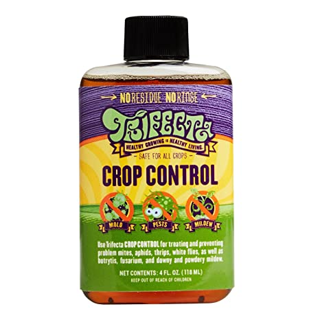 Trifecta Crop Control - Naturally Defeat Spider Mites, Powdery Mildew, Grey  Mold and More - 4 Oz - All-in-One Pesticide, Fungicide, Miticide,
