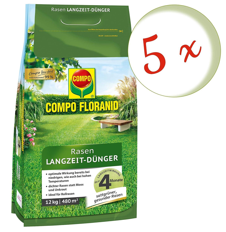 Oleander Hofmeister® Bajo Set: 5x Compo floranid® Césped abono de larga duración, 12kg + GRATIS Adelfas Hofmeister Flyer