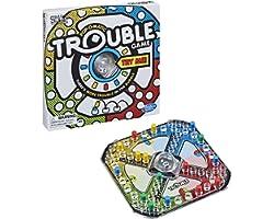 Trouble Jogo de Tabuleiro, para Crianças acima de 5 Anos - A5064 - Hasbro