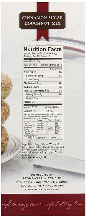 Amazon Com Stonewall Kitchen Cinnamon Sugar Doughnut Mix 18 Ounce Pack Of 2 Cake Mixes Grocery Gourmet Food
