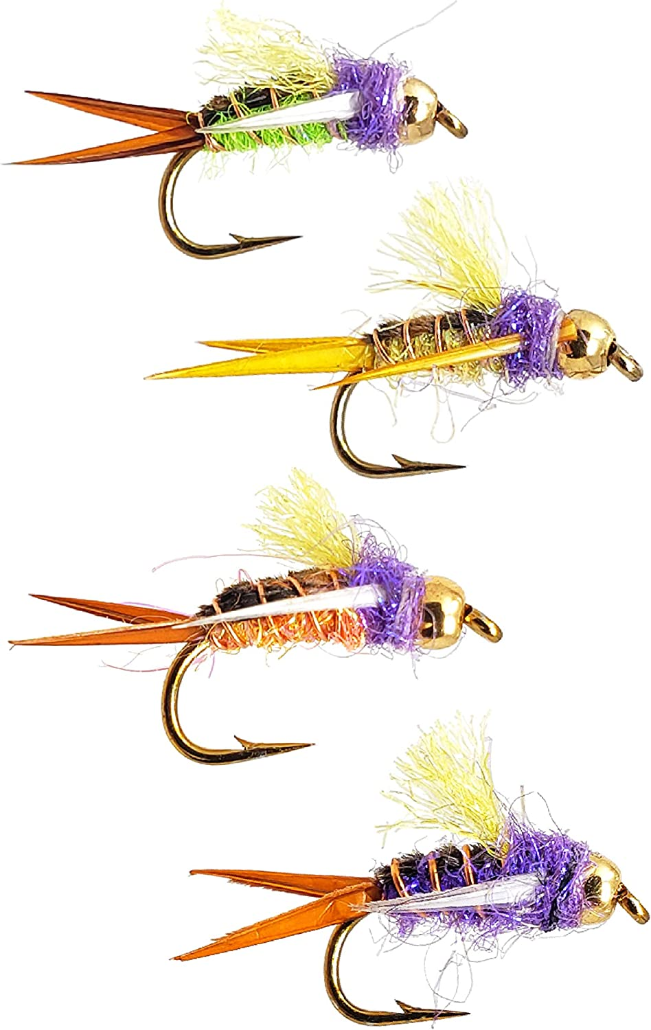 The Fly Crate Psycho Prince Nymph Fly Variety Assortment | Fly Fishing for Trout
