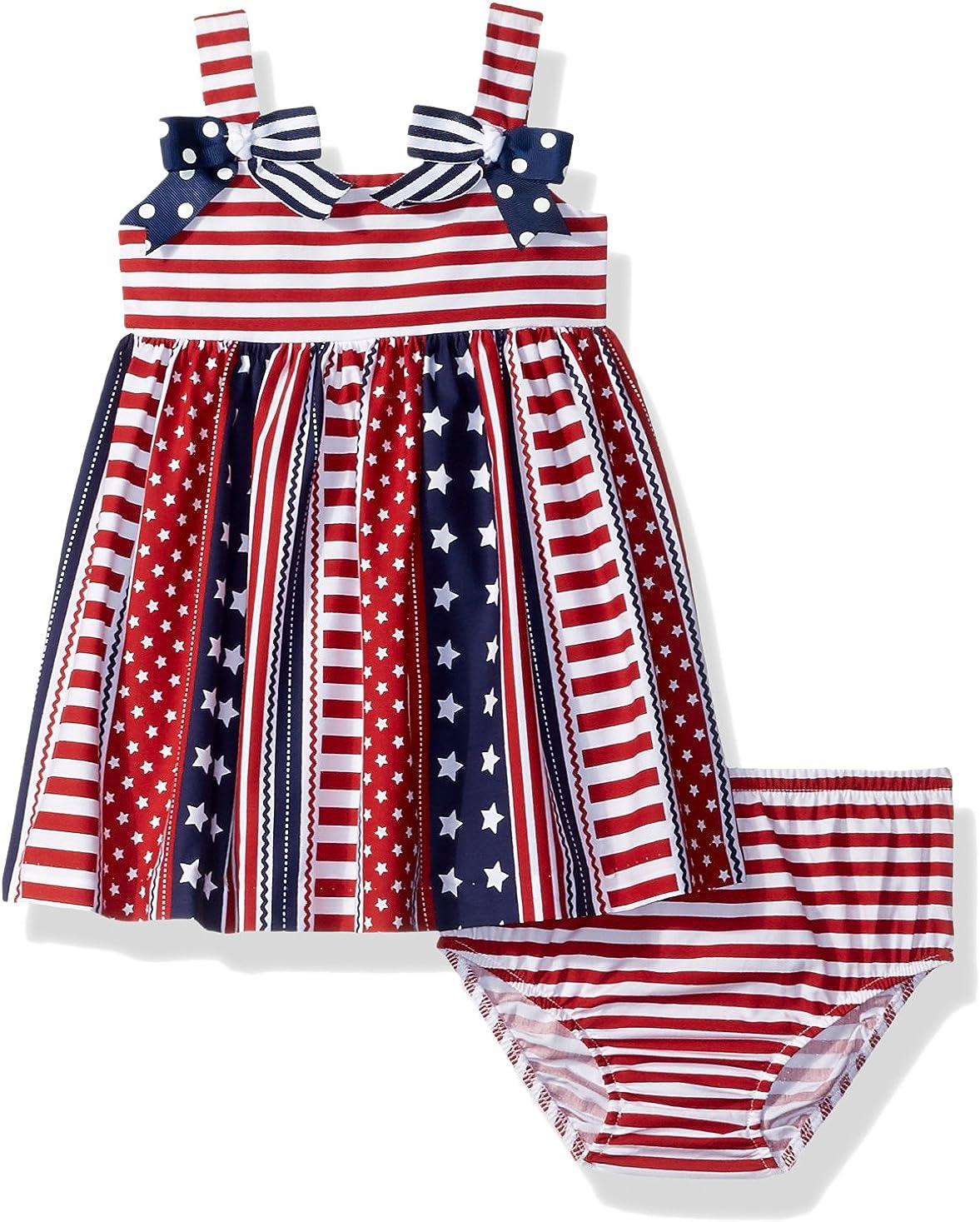 Bonnie Baby Baby Girls Americana Dress