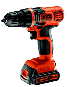 BLACK+DECKER EGBL14K-QW Perceuse à percussion sans fil, 14.4V, 1 batterie
