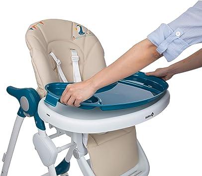 Safety 1st Looky Trona para beb/é evolutiva y reclinable en 3 posici/ónes plegable compacto con 4 ruedas ajustable en altura color Warm Grey