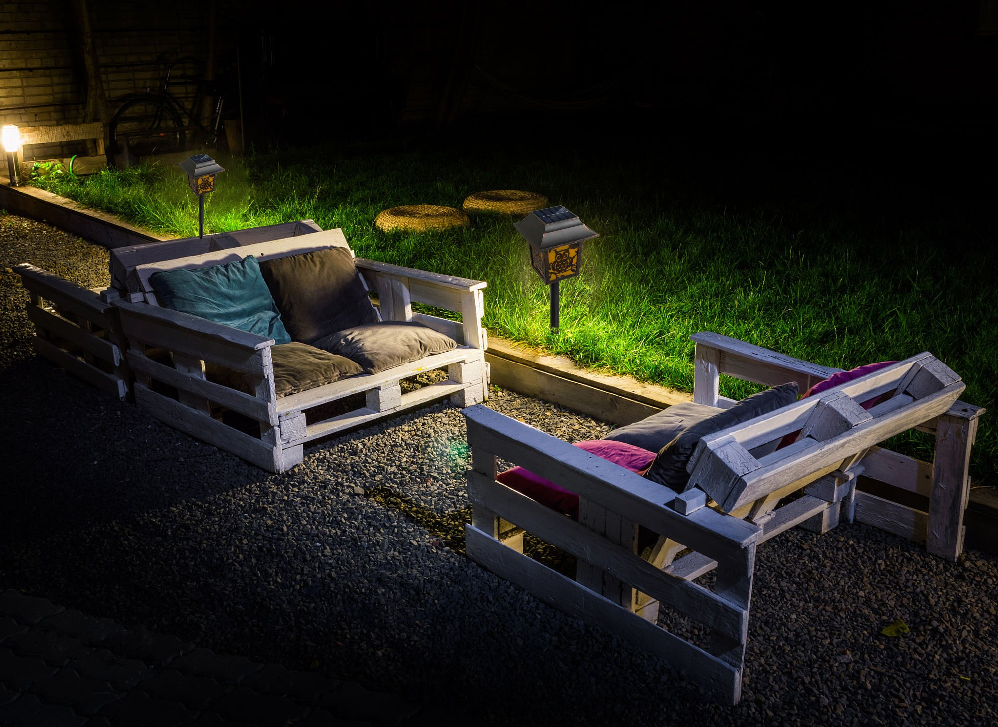 Solar Pathway Lights ,Solarmks Solar Lights Outdoor Waterproof Wireless Led Landscape Lights Antiques Solar Stake Lights for Porch Garden Decoration