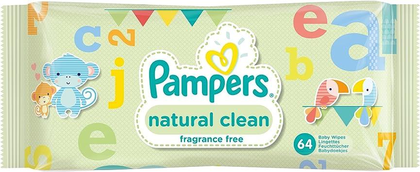 /12/x paquetes de 64 Pampers Toallitas Limpieza Natural/