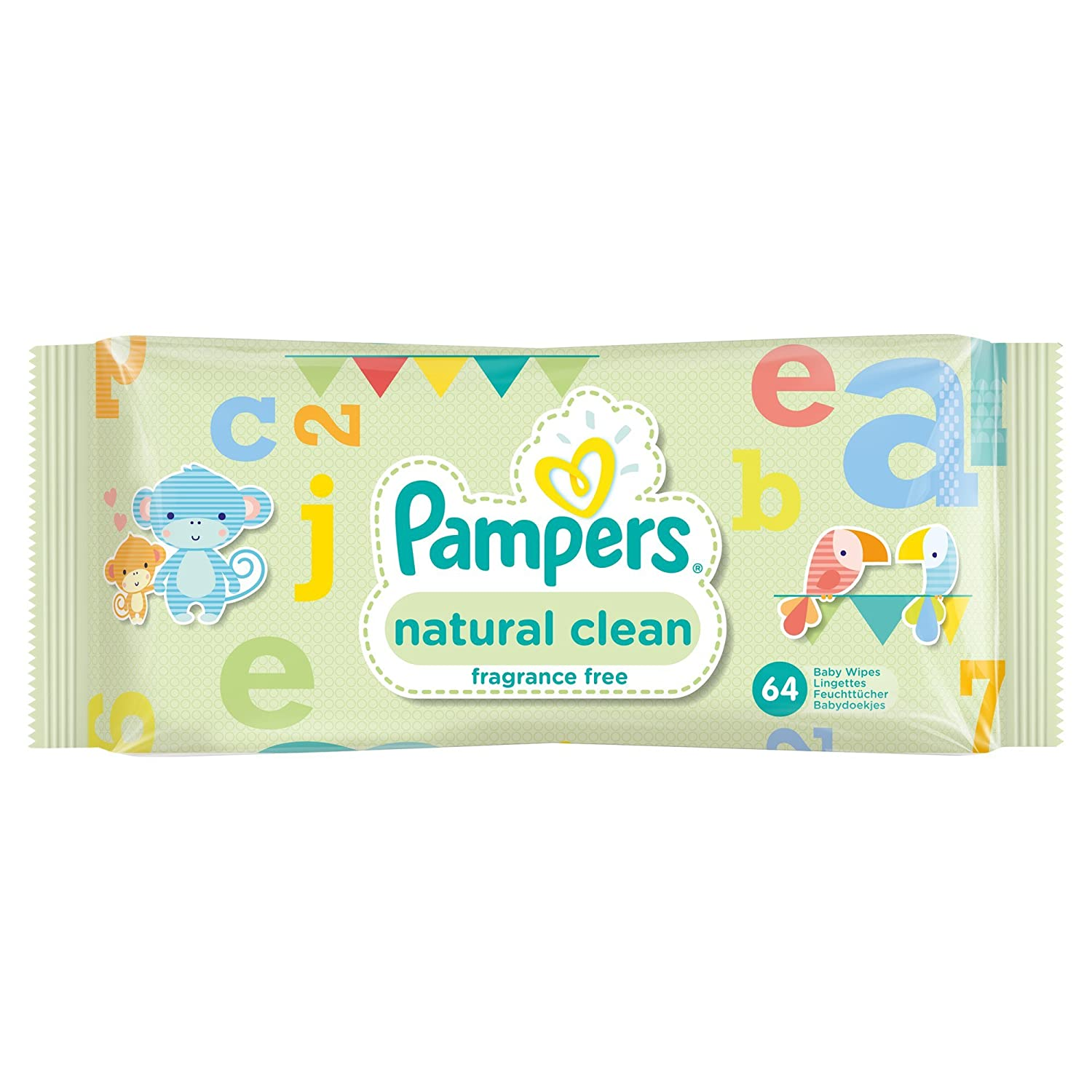 Biodegradable and Unfragranced Childs Farm Baby Wipes 12 Packs 768 Wipes Total