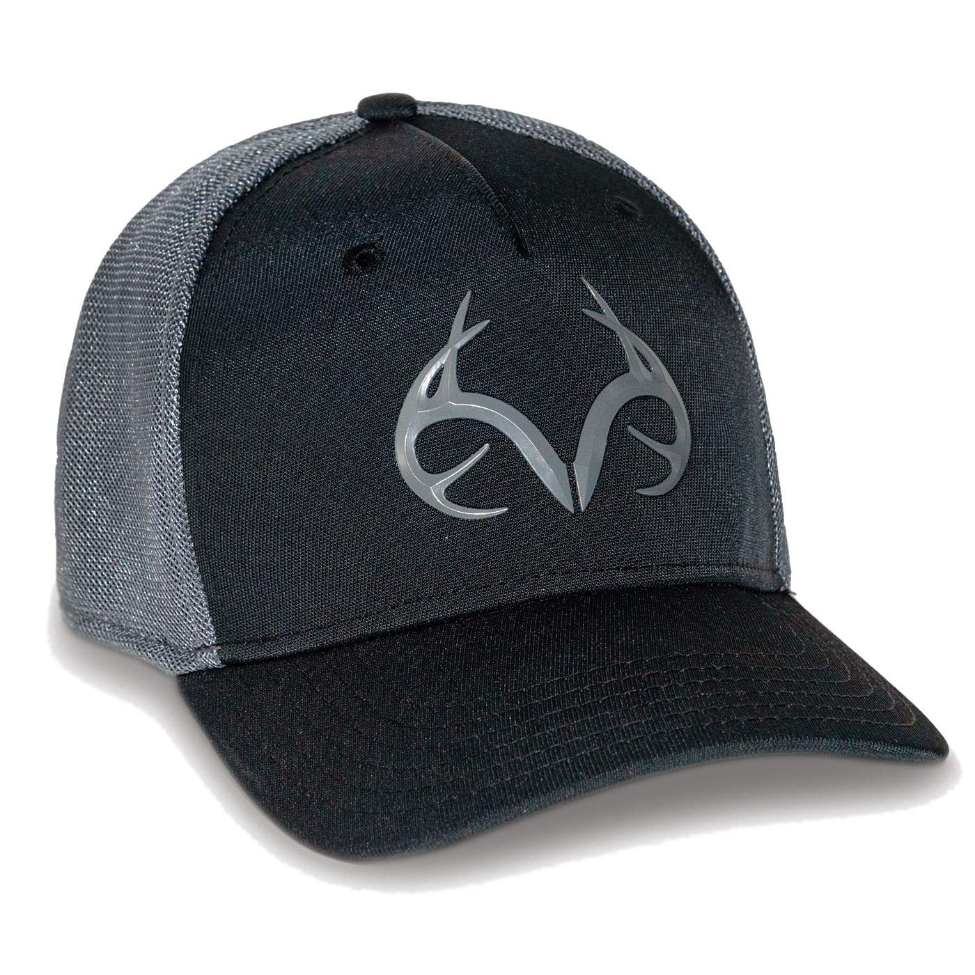 Realtree Men's Blackout Performance Fitted Hat (M/L)