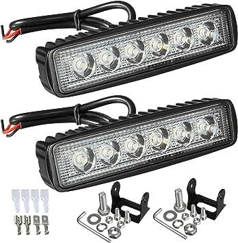 6/'/' 60W Spot 6-LED Work Lights Offroad Driving Car Boat Bar Fog Light SUV 4X4