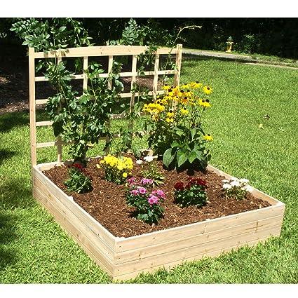amazon com 4ft x 4ft eden raised garden bed with trellis