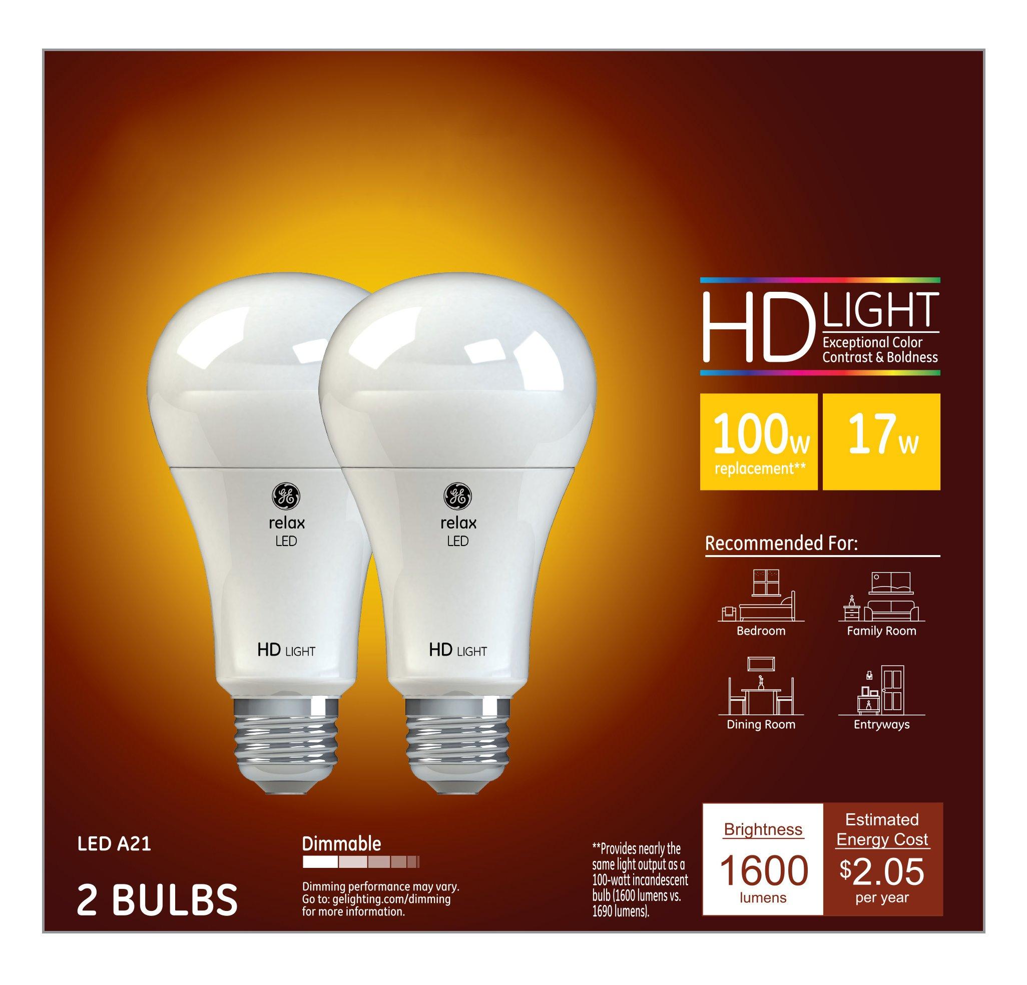ge lighting relax led hd 17 watt 100 watt replacement 1600 lumen a21 light ebay. Black Bedroom Furniture Sets. Home Design Ideas