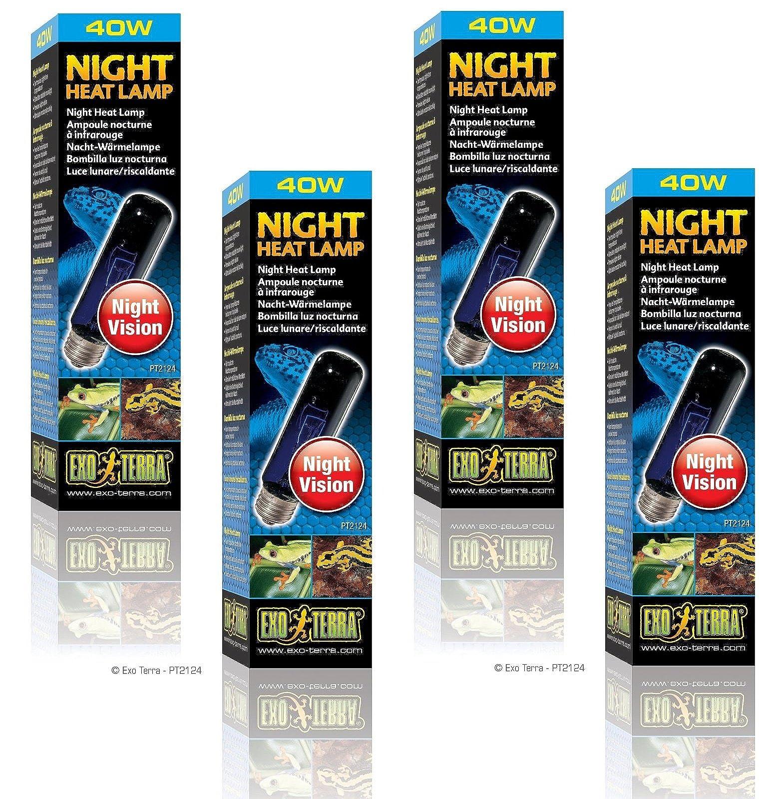 (4 Pack) Exo Terra Night-Glo Moonlight Lamp, 40 Watt - 1
