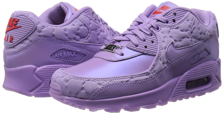 brand new c9701 41e85 Nike Women's WMNS Air Max 90 QS, Paris-Viola/Fuchsia Glow-Challenge RED:  Amazon.co.uk: Shoes & Bags