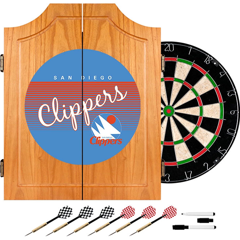 NBA San Diego Clippers木製Dartキャビネット、1サイズ、ブラウン   B00QZCSC84