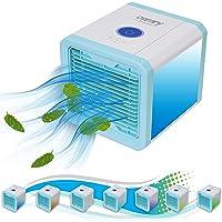 3in1 Mini Air Cooler | Mobile Klimaanlage | Tischventilator | Luftkühler | Aircooler | Klimagerät Klima tragbar | Ventilator | Luftbefeuchter | Luftreiniger | 3 Leistungsstufen | Klimagerät | leise