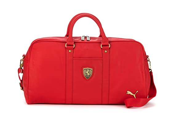 65869b39acfd Puma Ferrari PU 2 Ways Duffle Travel Gym Bag (Red)  Amazon.co.uk  Clothing