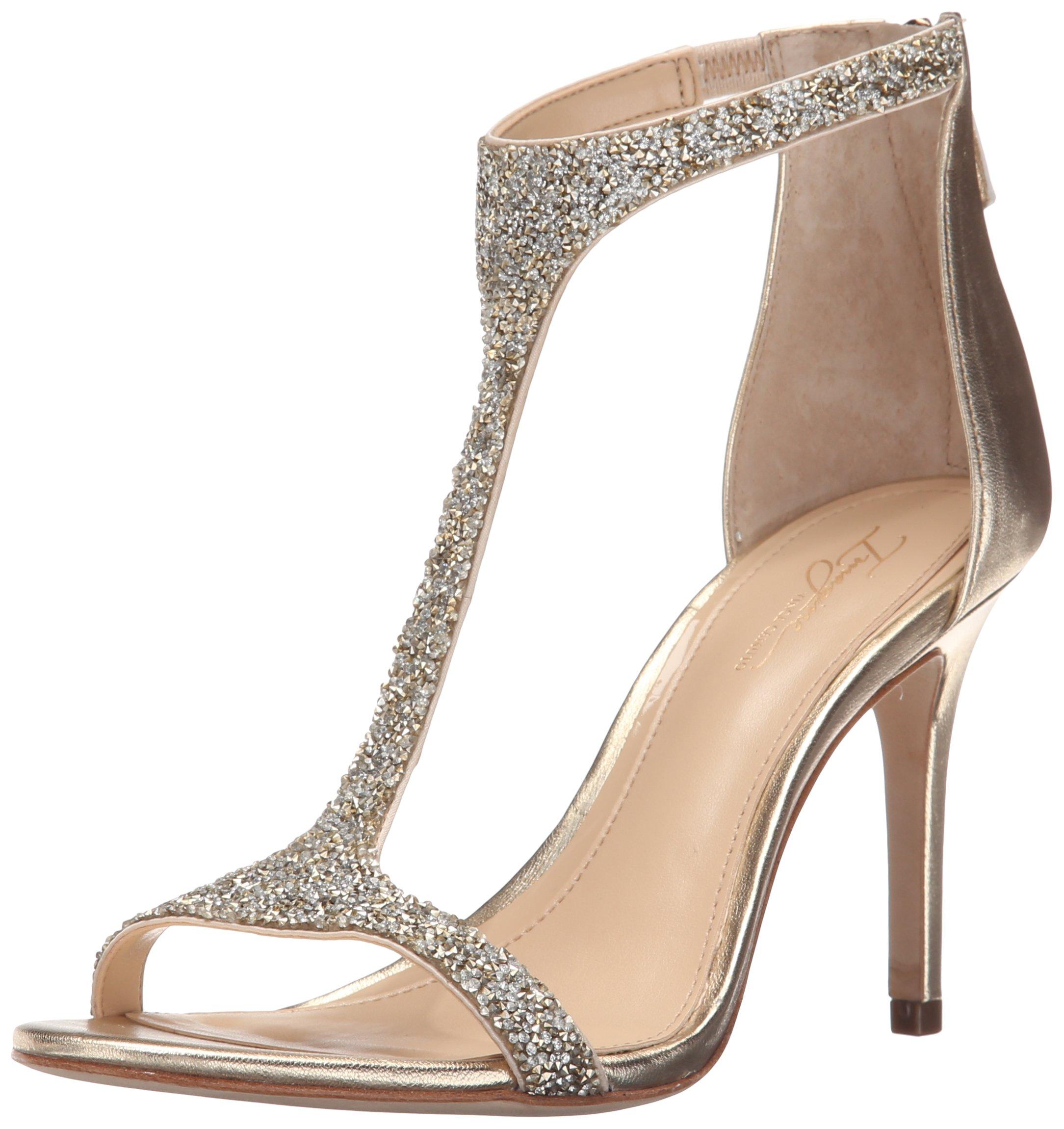 Imagine Vince Camuto Women's Im-Phoebe Dress Sandal, Crystal/Soft Gold, 9 M US by Imagine Vince Camuto